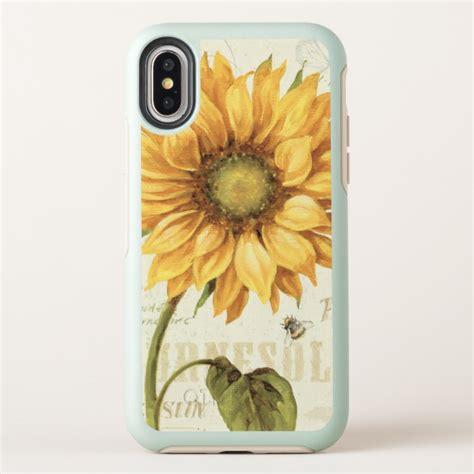 yellow sunflower otterbox symmetry iphone  case case