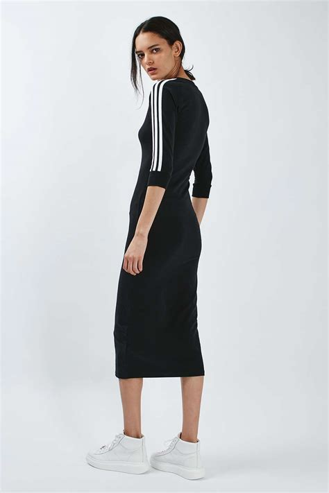 Adidas Maxi Dress three stripe maxi dress by adidas originals topshop