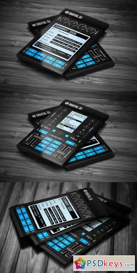 dj business card template photoshop digital dj business card template 558704 187 free