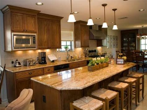Granite Kitchen Island With Seating Kitchen With Granite Top Tables For Modern Kitchen My Home Design Journey