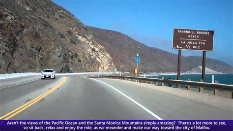 Pch India - pacific coast highway pch driving into malibu along doovi