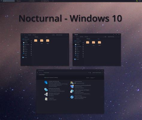 themes for windows 10 nocturnal theme for win10 skin pack customize your