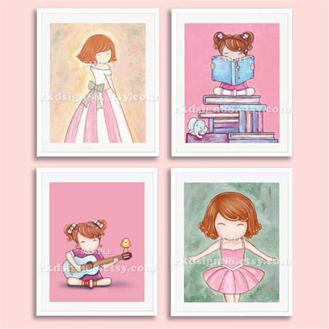 Ballerina Nursery Decor Ballerina Prints Baby Nursery Decor Room