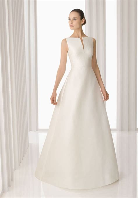 Fashion Simple Dress A31053 simple a line wedding dress with sleeves loro ipunya