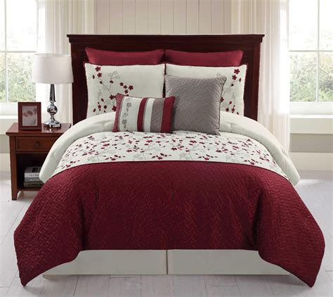comfortable set 8 piece embroidered comforter set sadie