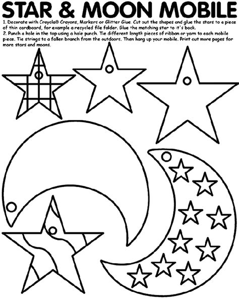 early play templates crescent moon templates