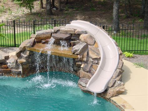 pool designs with slides natural pool attractions natural pool pinterest