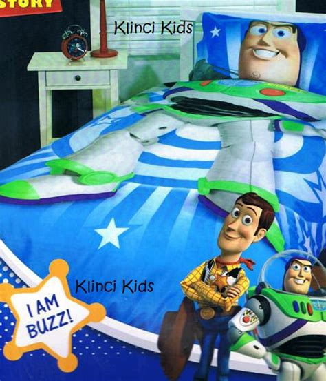 Buzz Lightyear Bed Set Disney Story I Am Buzz Buzz Lightyear Bed Quilt Duvet Cover Set Ebay