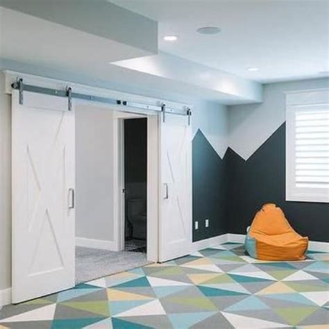 basement playroom flooring picture of basement playroom with bold geometric carpet