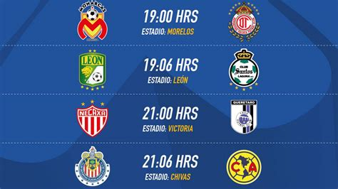 Calendario De Juegos Liga Mx Chivas Fechas Y Horarios De La Jornada 7 Clausura 2017 De La