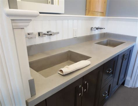 concrete bathroom vanity sink transitional
