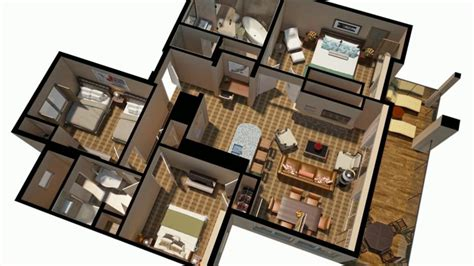 3d plan of house pin 3d house plan rendering on pinterest
