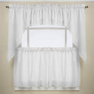 White Kitchen Curtains Ribbon Eyelet White Kitchen Curtains Altmeyer S Bedbathhome