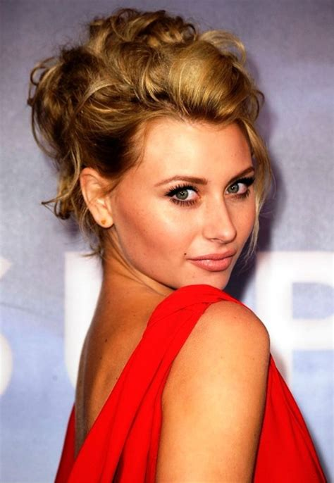 hottest loose hairstyles alyson michalka sexy messy loose updo hairstyle