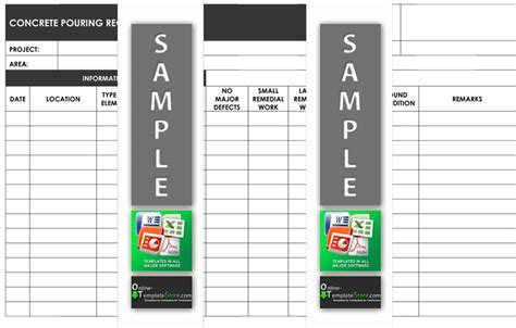 concrete pour card template quality construction template store