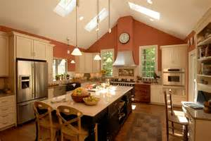 kitchen with vaulted ceilings ideas ava living gourmet kitchen makeover by michael steiner