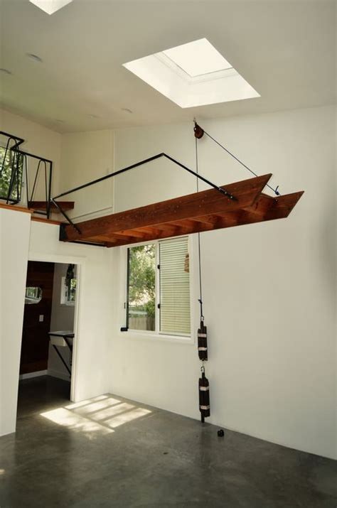 stairs lift    pulley system tiny house stairs