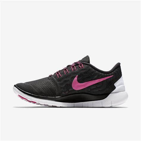 nike womens free 5 0 running shoes black pink