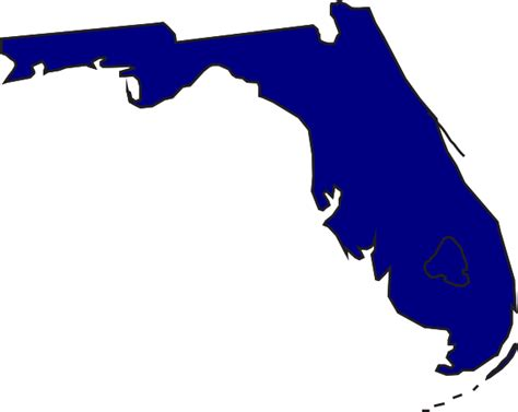 Florida Map Outline Png by Blue Florida Clip At Clker Vector Clip Royalty Free Domain