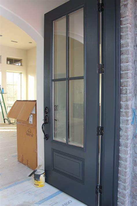 door painted in benjamin wrought iron one of the best door and trim colors doors
