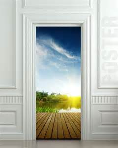 Door Wall Murals Wall Door Sticker Natural Resources Landscape River