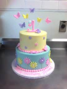 1st birthday cake with butterflies amp flowers main made custom cakes