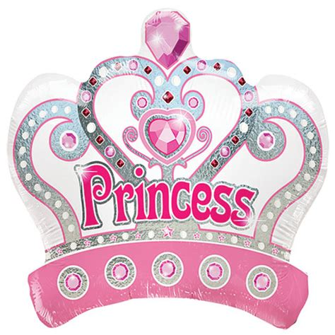 Word Art Home Decor bulk princess crown foil balloons at dollartree com
