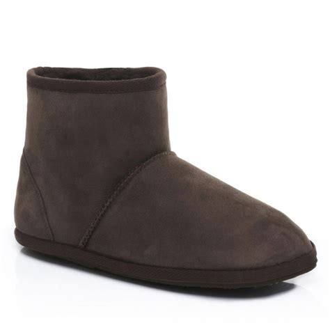 slipper boots mens mens sheepskin slipper boots