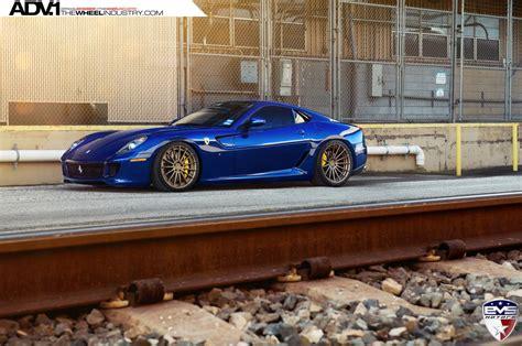 G Ferrari Bronze by Rare Blue Ferrari 599 Gtb On Bronze Adv 1 Wheels Is