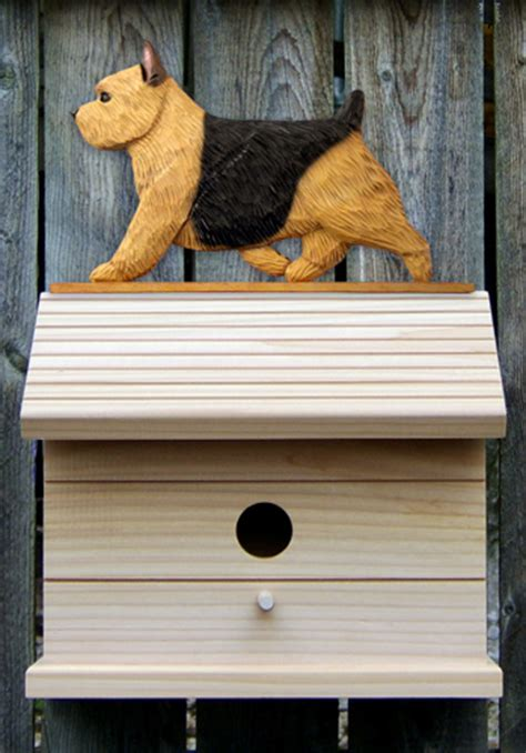 dog house norwich norwich terrier hand painted dog bird house black tan
