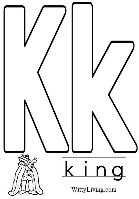coloring pages letter k kids crafts for kids to make