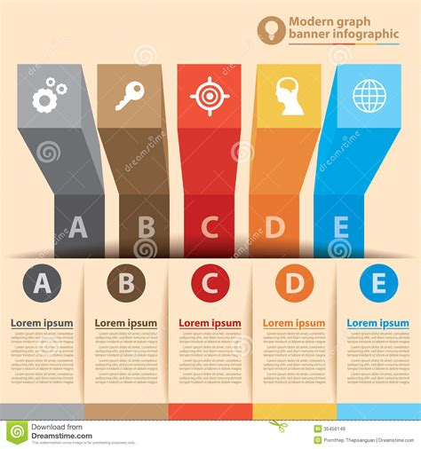 layout of infographic modern graph banner infographic royalty free stock images