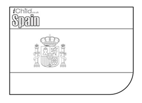 Spanish Flag Colouring In Flag Of Spain Ichild Spain Flag Coloring Page