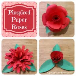 How To Make A Flower Out Of Construction Paper - my stead pinspired paper roses