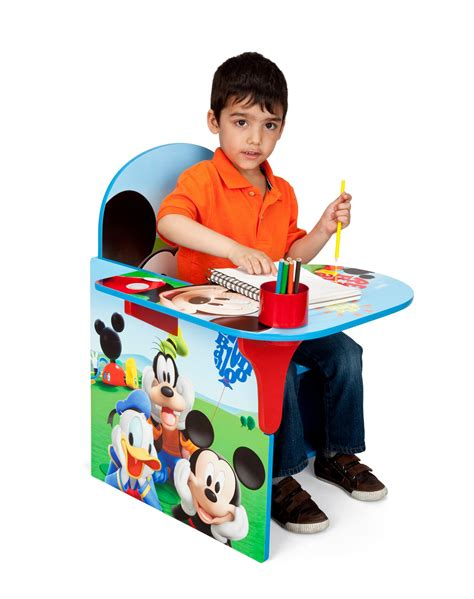 Mickey Mouse Table And Chair Set Amazon Com Delta Children Chair Desk With Storage Bin