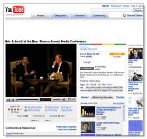Screenshot of google youtube video page