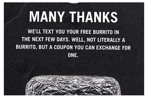 chipotle mail coupon free burrito
