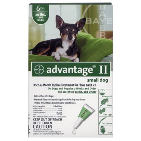 advantage for puppies advantage ii for dogs 10 lbs and 6 pack ebay