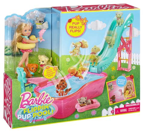 puppies playset chelsea flipping pup pool set new sealed gift