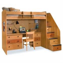 utica lofts loft bed with storage stairs 23 835 xx