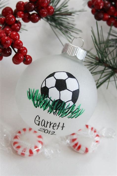 soccer sport christmas ornament personalized for free