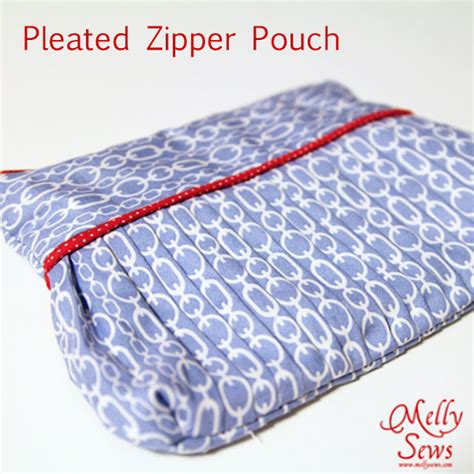 zippered fabric pouch pattern last minute gifts easy pleated zip pouch melly sews
