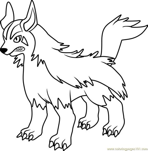 pokemon coloring pages poochyena mightyena pokemon coloring page free pok 233 mon coloring