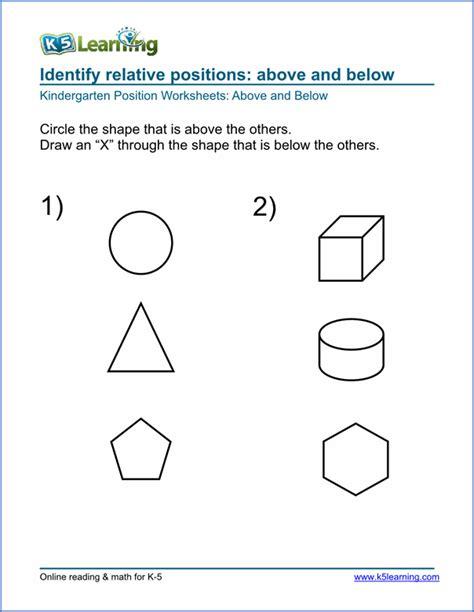 K5 Learning Worksheets by Number Names Worksheets 187 Preschool Vocabulary Worksheets