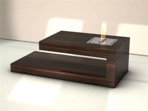 Designer Wooden Coffee Tables Modern Coffee Table With Built In Fireplace Coffee Table By Axel Schaefer Digsdigs