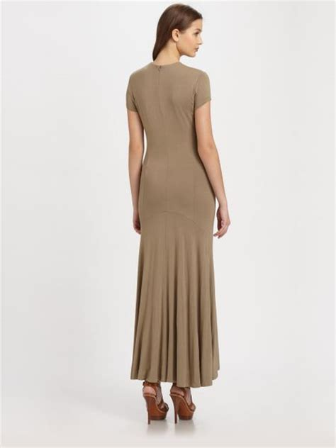 jersey knit maxi dress ralph blue label jersey knit maxi dress in brown
