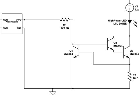 transistor mosfet pwm led constant current circuit with transistors mosfets design comparison electrical