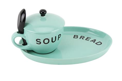 Free Standing Kitchen Furniture loft mint soup bowl bread plate amp sipping spoon