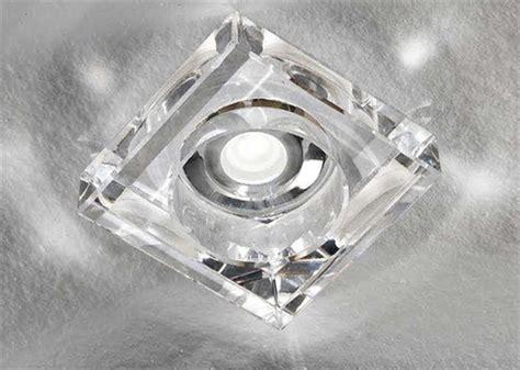 faretti quadrati per controsoffitto faretto quadrato in vetro trasparente da incasso per