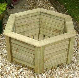 Wooden Planters Wooden Planter Heritage Hexagonal Planter 750 Wide